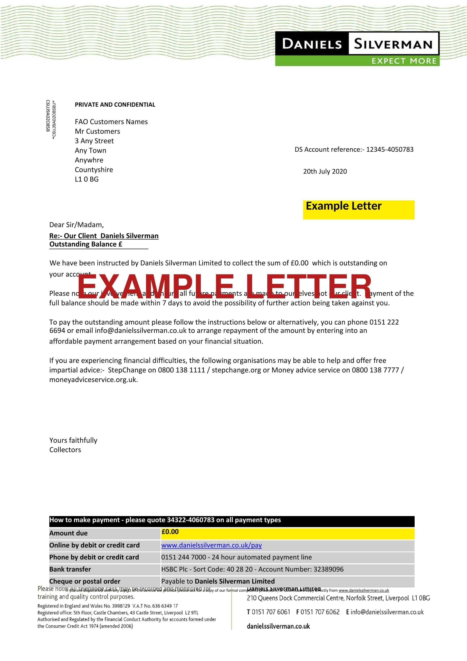 Debt Letter